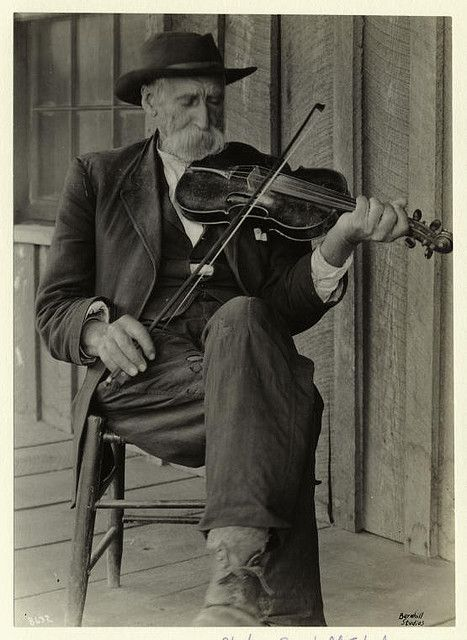 A mountain fiddler. by New York Public Library, via Flickr
