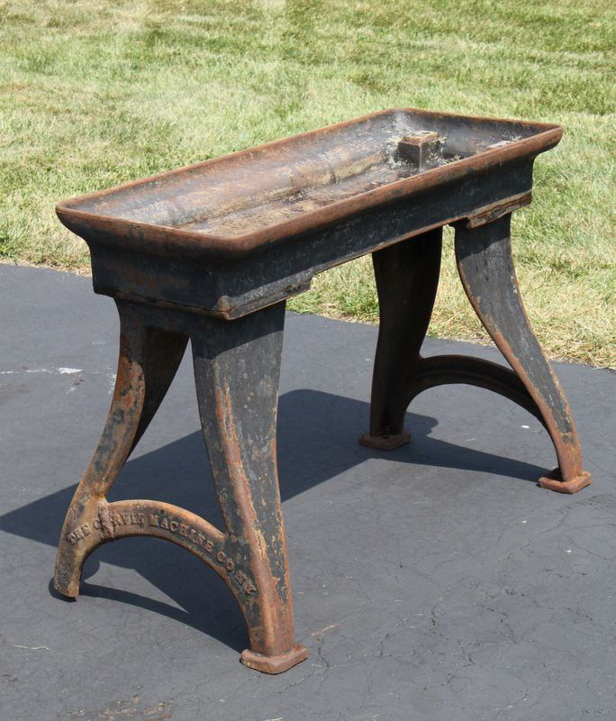 vintage cast iron table base 1
