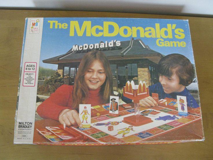 1975 The McDONALD'S Game -COMPLETE -Original box -Milton Bradley Game -vintage board game -Ronald McDonald -Hamburglar -McDonalds restaurant by oakiesclaptrap on Etsy