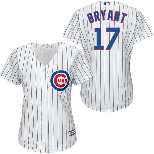 Chicago Cubs Women's Kris Bryant Majestic home white Cool Base jersey