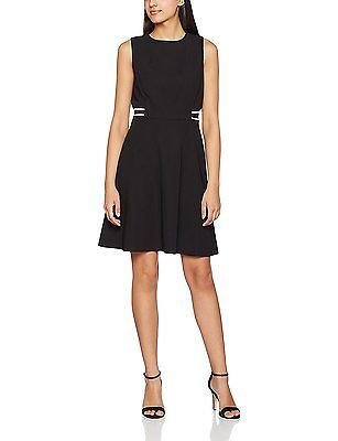 16, Black, Dorothy Perkins Women's Sports Rib Skater Dress NEW