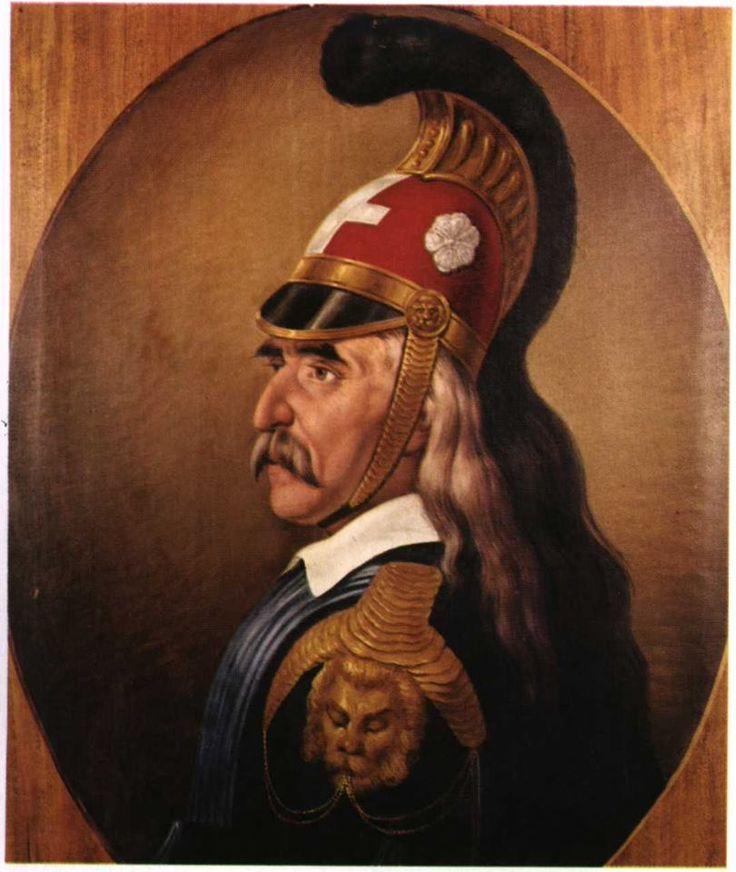 Κολοκοτρώνης Θεόδωρος – Kolokotronis Theodoros (1770-1843) Προσωπογραφία Θεόδωρου Κολοκοτρώνη, έργο του Διονυσίου Τσόκου (με στολή Ταγματάρχη)