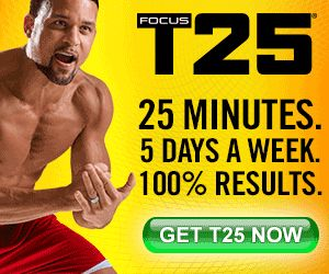 Sponsored Pin: A review of the very popular fitness program T25. Lose weight in 25 minutes! #fitnessprogram #fitness #exercise