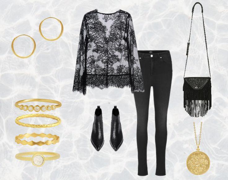 Styling by pernillelorup showing Darling Hoop Earring Fine Medium Gold, Delight diadem Zirconia Ring Gold, Hortensia Ring Gold, Harlequin Ring Gold, Bubble Facet Ring Sky Blue Small Gold and Blossom haze Pendant Gold #jewellery #Jewelry #bangles #amulet #dogtag #medallion #choker #charms #Pendant #Earring #EarringBackPeace #EarJacket #EarSticks #Necklace #Earcuff #Bracelet #Minimal #minimalistic #ContemporaryJewellery #zirkonia #Gemstone #JewelleryStone #JewelleryDesign #CreativeJewellery…