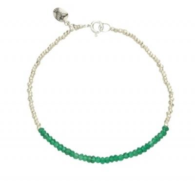 Alia Bracelet, green onyx, sterling silver