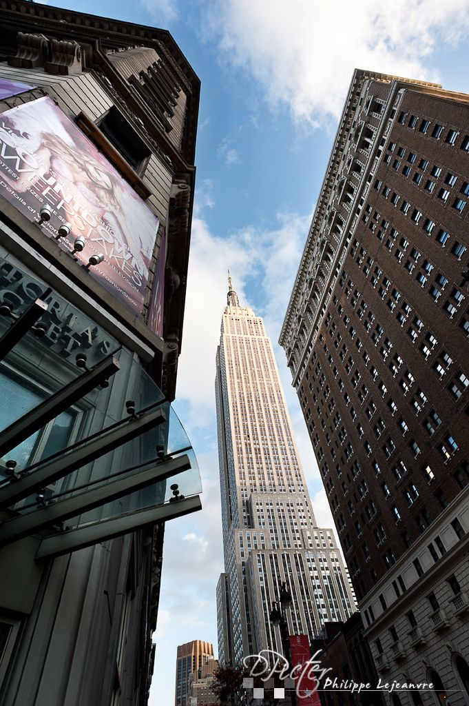 """""""New York city"""" by Philippe Lejeanvre on Flickr ~ This is the Empire State Building from 34th Street in New York City, New York."""