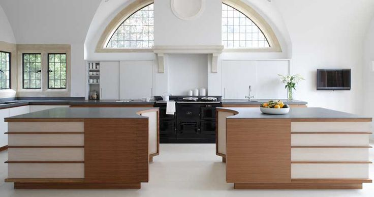 Bespoke Kitchen In French Walnut And Pigmented Lacquer. Designed And Made By Artichoke In Somerset photo - 1
