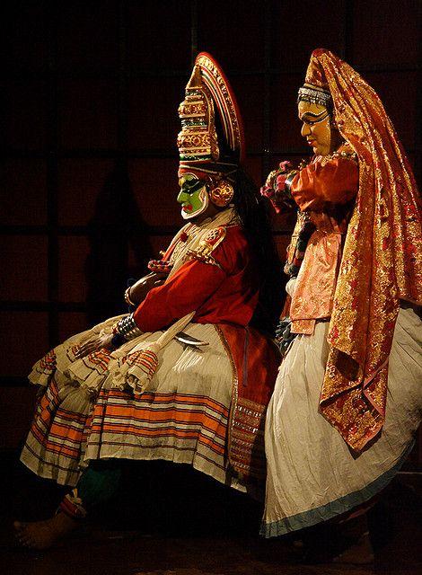 kathakali dancers, kerala, india | indian classical dance