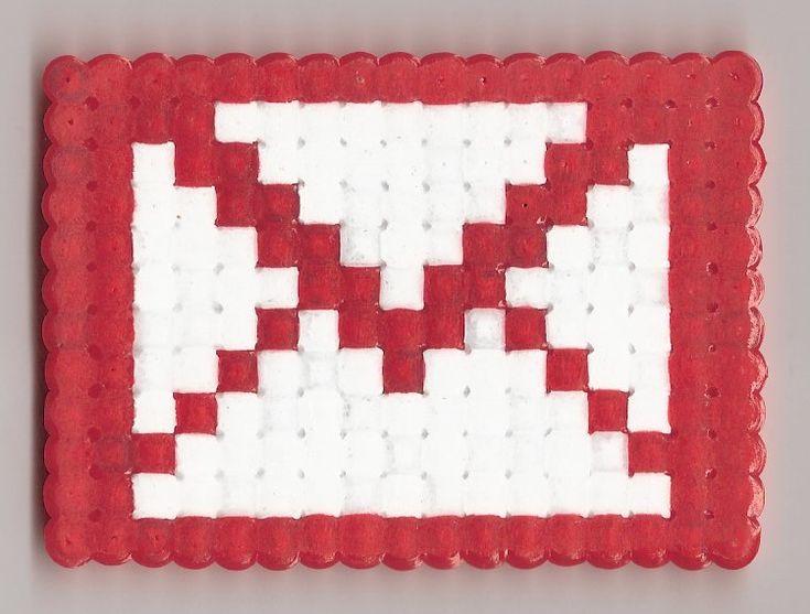 GMail logo Hama beads by Nakwada