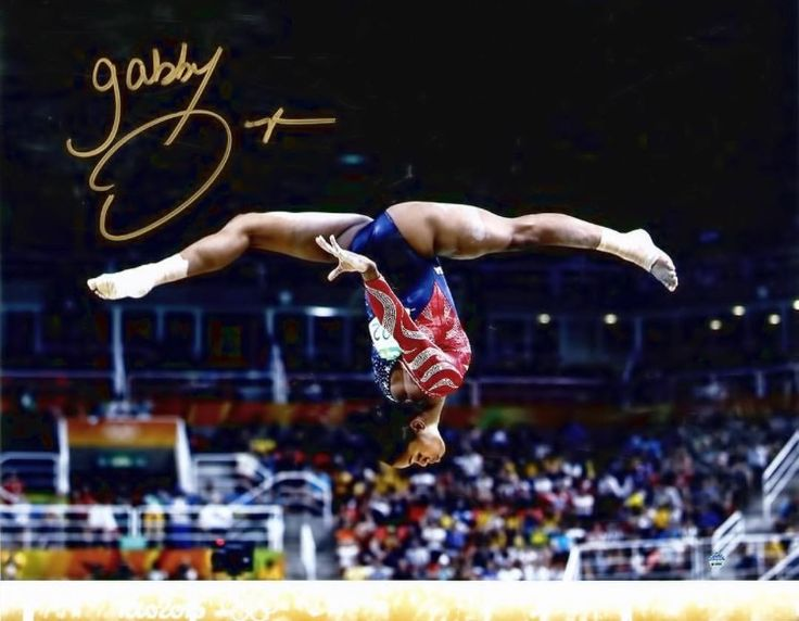 Gabby Douglas is giving away an autographed copy of this picture on instagram