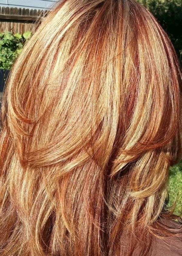 Peachy 1000 Ideas About Red Blonde Highlights On Pinterest Red Blonde Hairstyle Inspiration Daily Dogsangcom