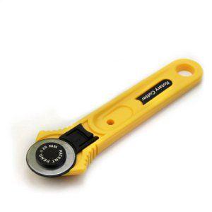 28mm Pratique Couteau Rotatif Découpeur Cutter Rotary Lame Circulaire Jaune Noir