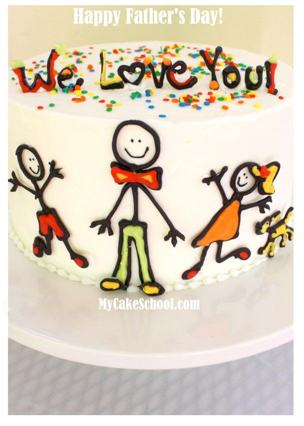 Happy Father's Day -Simple & Fun Cake Design from the My Cake School Blog!