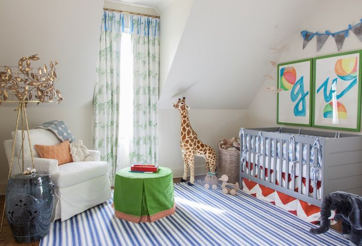 The Cooley Lamp looks fantastic in this nursery! #straydogdesigns