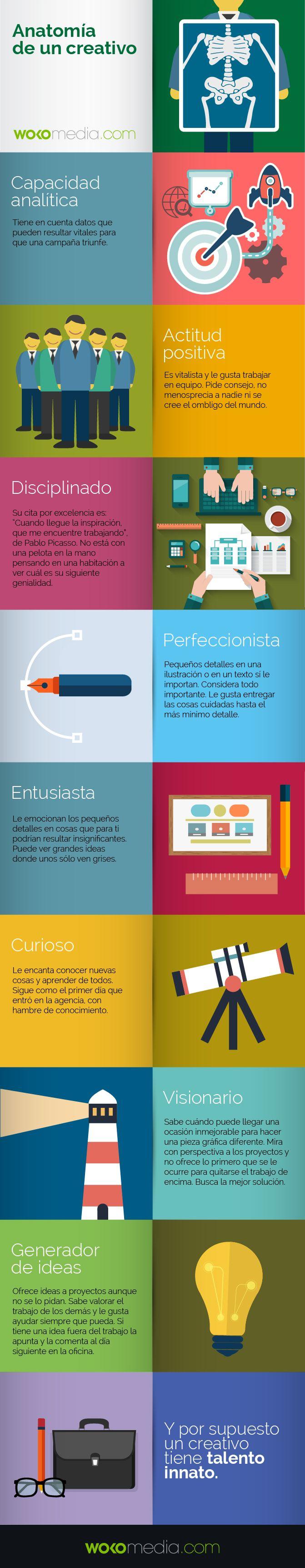 Anatomía de un creativo de marketing #infografia #infographic #marketing