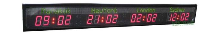 multiple time zone clock/LED world time clock 4 cities world time clock