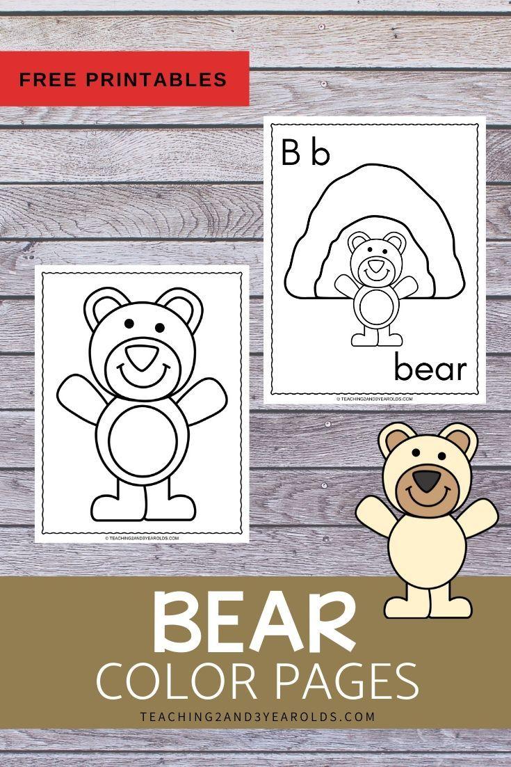 Bear Theme Color Pages Bear Crafts Preschool Bear Theme Preschool Bears Preschool [ 1102 x 735 Pixel ]