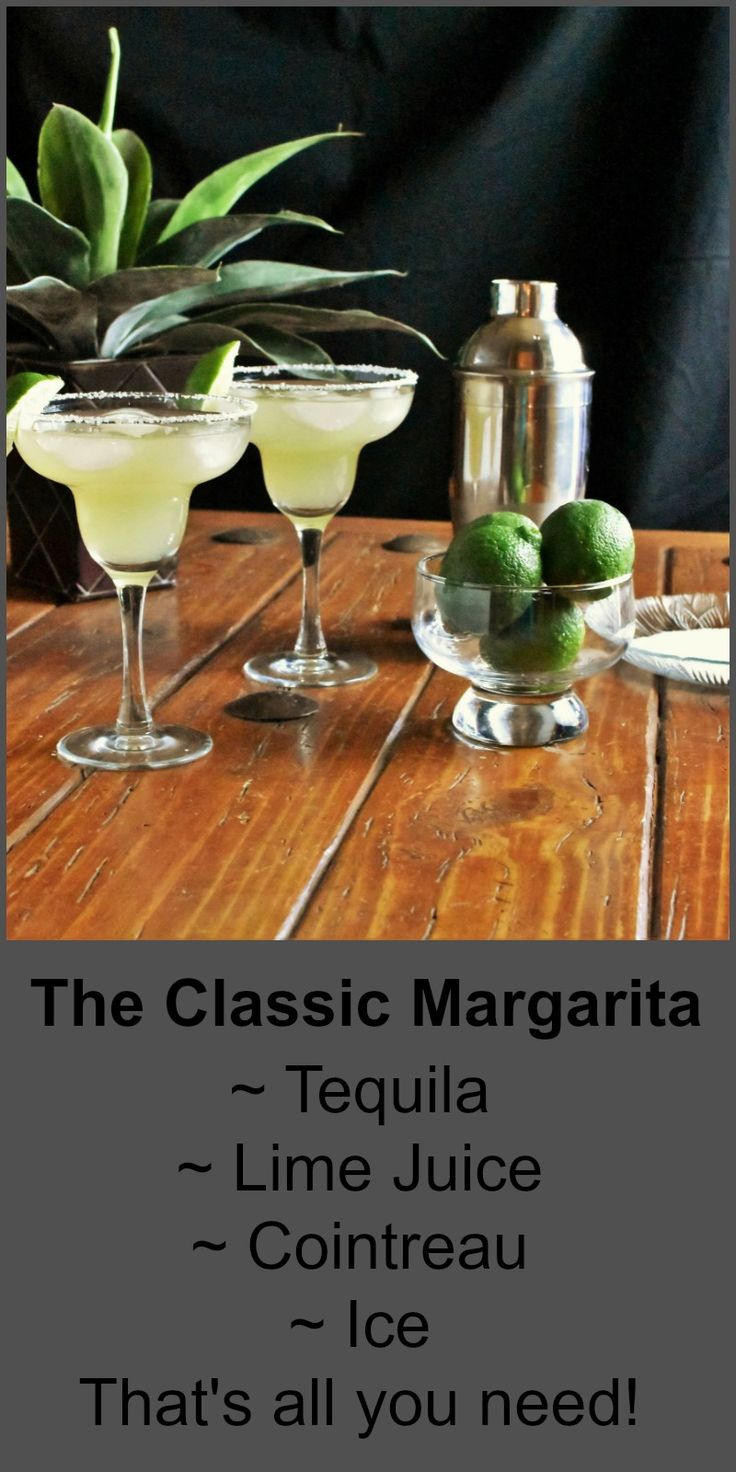 Raise up your glasses to a toast with this Classic Margarita! Great for all occasions!