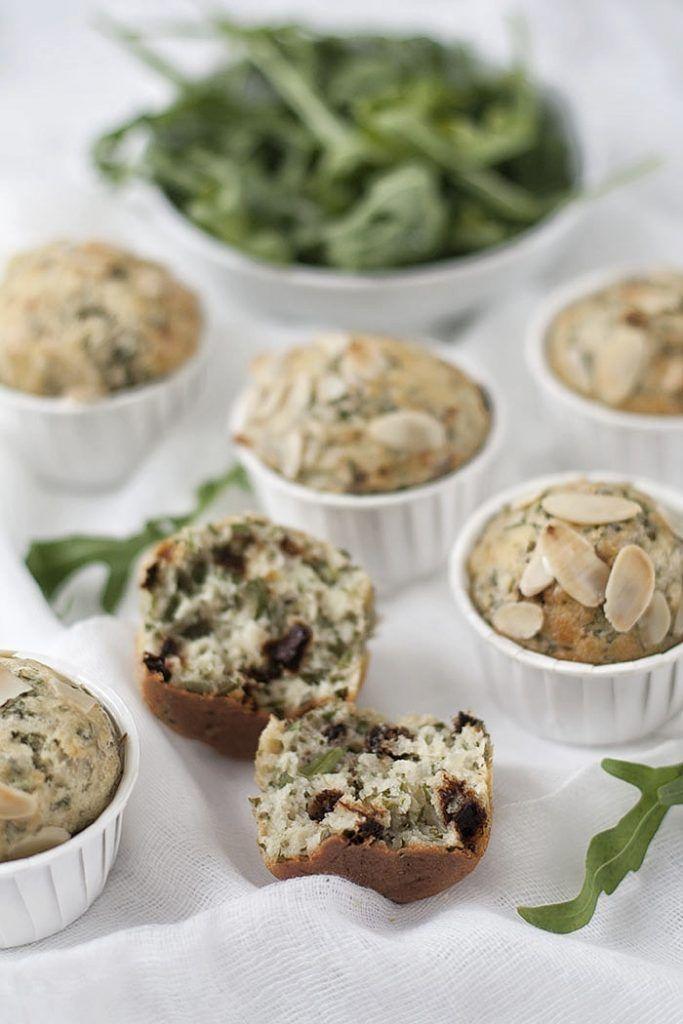 Muffins de rúcula y tomates deshidratados   Blog Dit i Fet