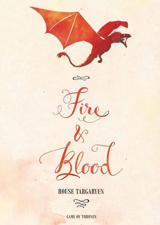 Game of Thrones . House Targaryen Art Print