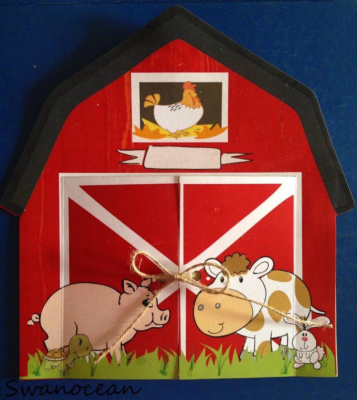Alexander-John's christening barn-farm theme party. Barn invitation-Η βάπτιση του Αλέξανδρου-Ιωάννη Θέμα ζώα της φάρμας