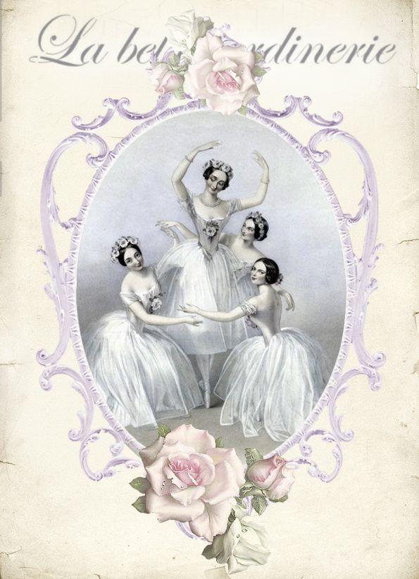 картинки для декупажа балерины винтаж пули