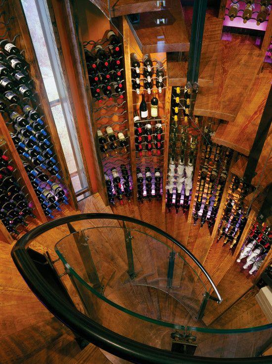 Wine Cellar Spiral Staircase Design