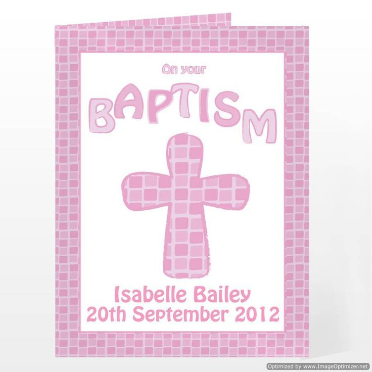 Personal Touch Gifts - Baptism Card Pink, £2.49 (http://personaltouchgifts.co.uk/baptism-card-pink/)
