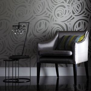 Black, Silver and Grey : Harlequin Vortex Wallpaper | | The Decorating Shop: Online Wallpaper Store