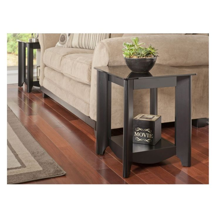 Bush My Space Aero Collection Classic Black End Tables - Set of 2 - MY16922-03