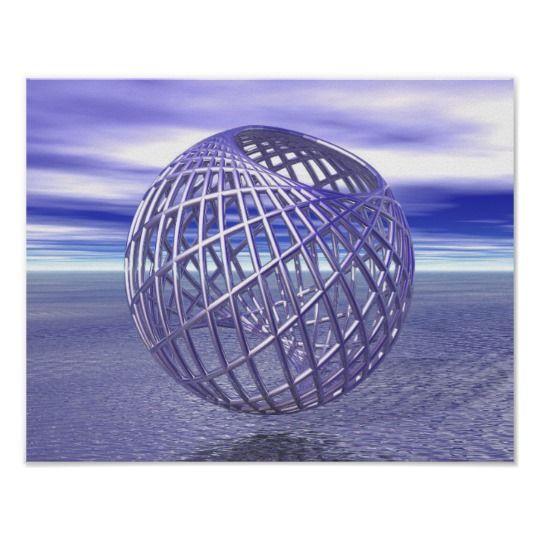 #Peaceful #Purple Round Framework Ocean Sky Love Peace Harmony #Poster