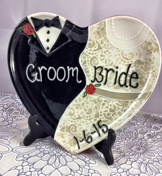 Custom Ceramic Wedding Plate
