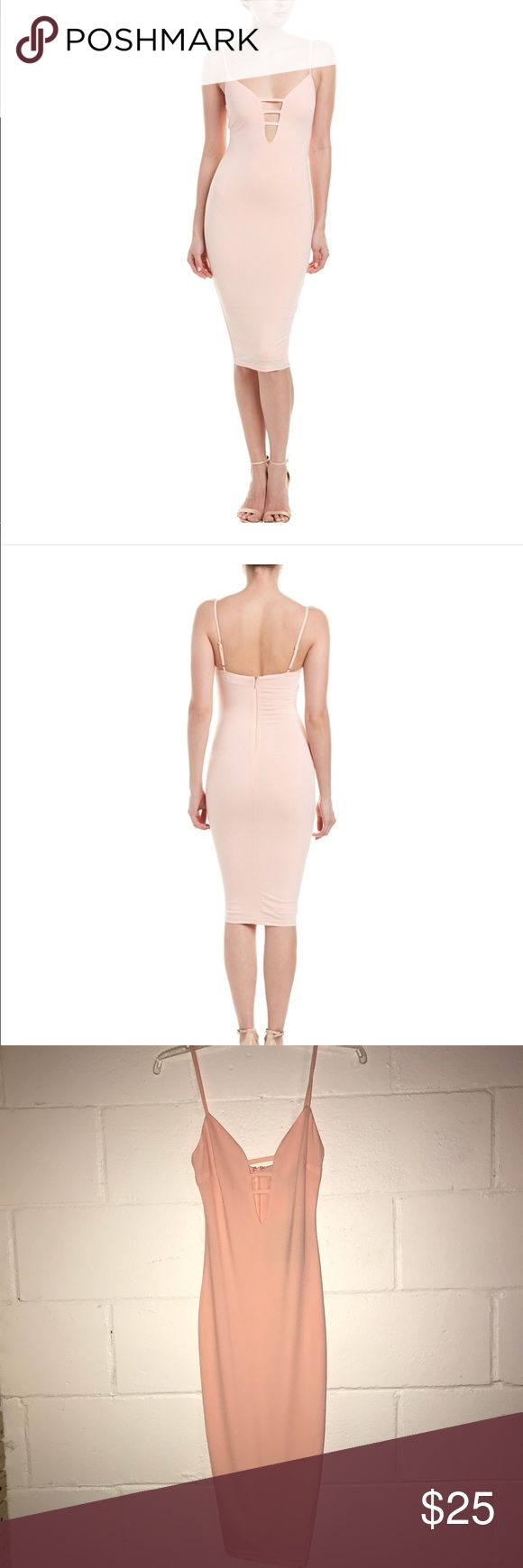 Dress Dance & Marvel Color/Pattern: Blush Approximately 41in From Shoulder To Hem Measurement Was Taken From A Size Small And May Vary Slightly By Size Design Details: Keyhole Details At Front, Adjustable Shoulder Straps Center Back Zipper With Hook-And-Eye Closure 95% Polyester, 5% Spandex Dry Clean Only Imported Fashion Nova Dresses Midi