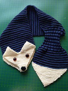 Fox Scarf: free keyhole scarf pattern by Satu Dolk and Ossi Laine on Ravelry
