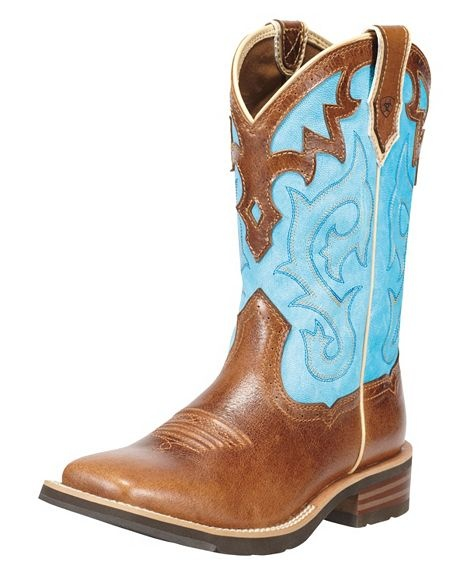 Ariat Unbridled Blue Cowgirl boots! I absolutely love and want these. I need another pair of boots!! <3