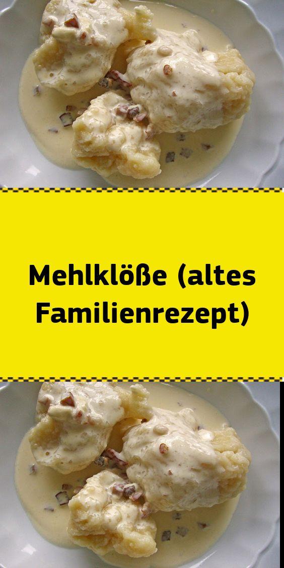 Mehlklöße (altes Familienrezept)