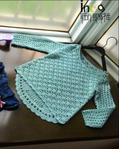 Crochet Knitting Handicraft: Sweater For girl