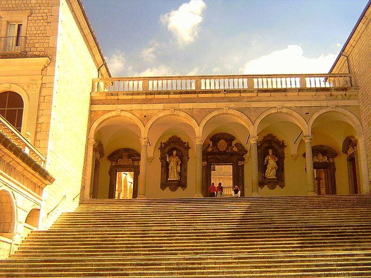 Lazio - Cassino (Latina) - Monte Cassino Abbey - by Twilight