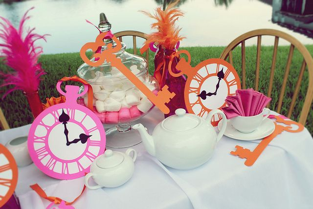 Alice in Wonderland in Orange and Pink