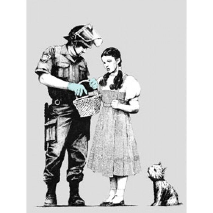 The Banksy Shop - Banksy Canvas Print - Stop And Search, £34.95 (http://www.thebanksyshop.co.uk/banksy-canvas-print-stop-and-search/)
