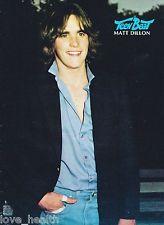 """MATT DILLON - CLARK BRANDON - TEEN BOY - 11"""" x 8"""" MAGAZINE PINUP POSTER - 22"""