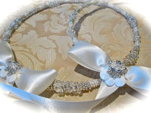 Embellished Satin Bow Couture Stefana