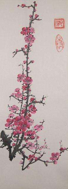 Рисунок - Китайская живопись - Се-И - Цветущая слива. Нажмите на изображение, для того, чтобы посмотреть изображение в максимальном размере