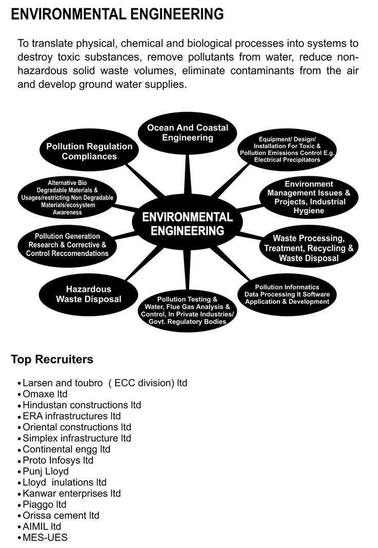environmental engineer - http://www.engineeringcareeroptions.com/howtobecomeanenvironmentalengineer.php