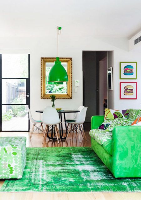 Jade Green Living Room Zoe Murphy Via Design Files