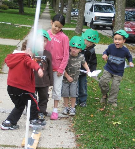 how to build a stomp rocket launcher