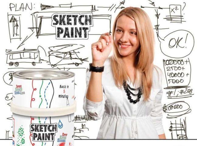 adelaparvu.com despre vopsea cu efect de tabla alba, vopsea SketchPaint de la magazinul Dulux culori si idei (8)