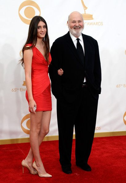 Director Rob Reine and daugher Tracy Reiner arrive at the 65th Annual Primetime Emmy Awards held at Nokia Theatre L.A. Live on September 22, 2013 in Los Angeles, California.