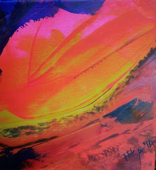 """Bad start "" Abstract acrylic by Nika"