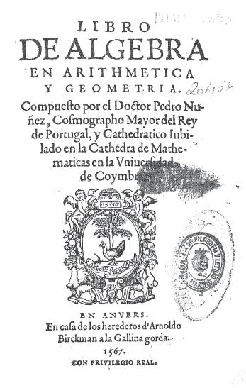 Libro de Álgebra en Arithmetica y Geometría(1567)